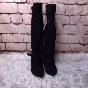 *Sale* BCBGeneration Suede Knee High Wedge Boot